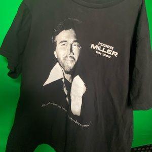 Roger Miller Black Tee Shirt